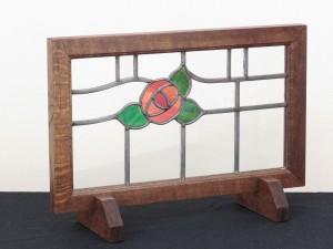 ステンドグラス(枠・脚付き)