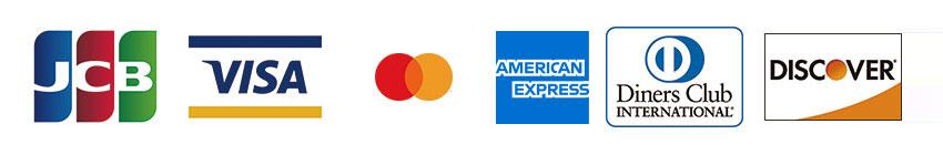 使用可能なクレジットカード決済
